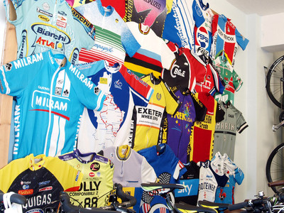 Shirt Wall - Exeter Cycles