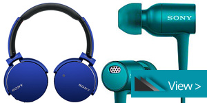 SONY Headphone Range