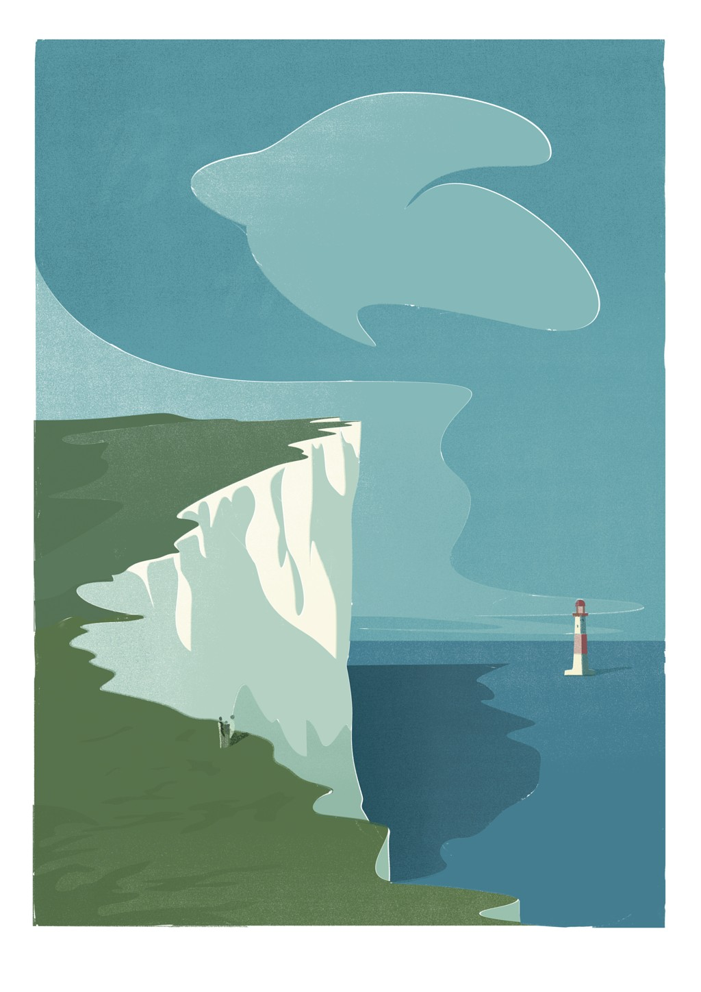 Beachy Head Illustration