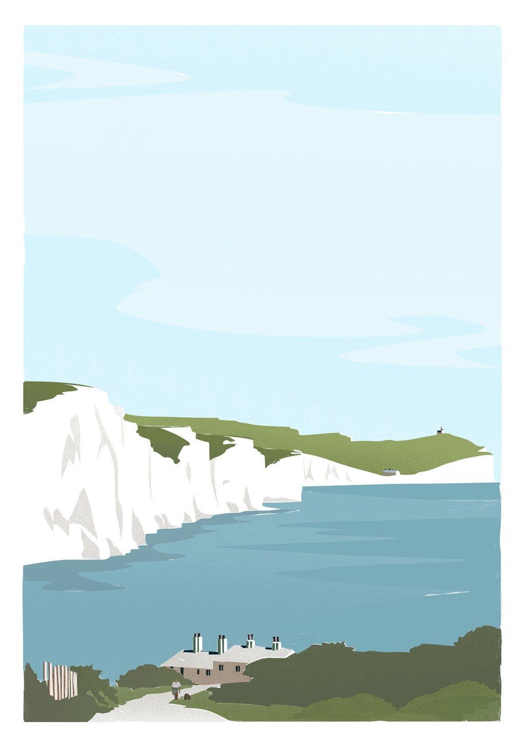 Seven Sisters and Coastguard Cottages, Sussex