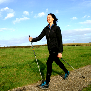 Nordic Walking in countryside