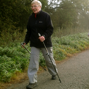lady nordic walking in york