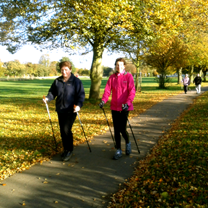 Nordic Walking Autumn Day in York