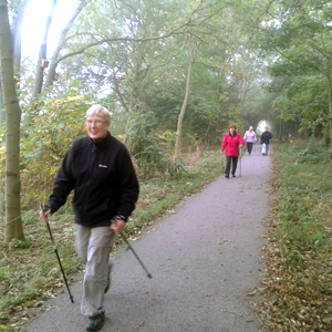 Nordic Walking in woodlands