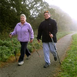 Ladies Nordic Walking in York Countryside