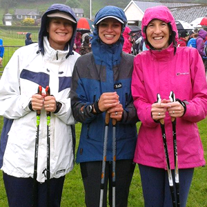 Rebecca Paylor Nordic walking competition