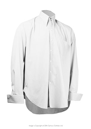 Spearpoint Collar White Shirt