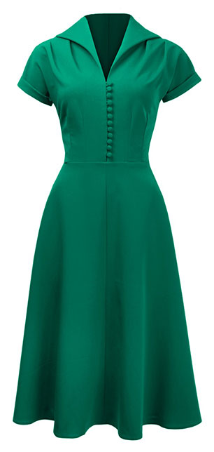 Hostess Dress in Emerald Gren