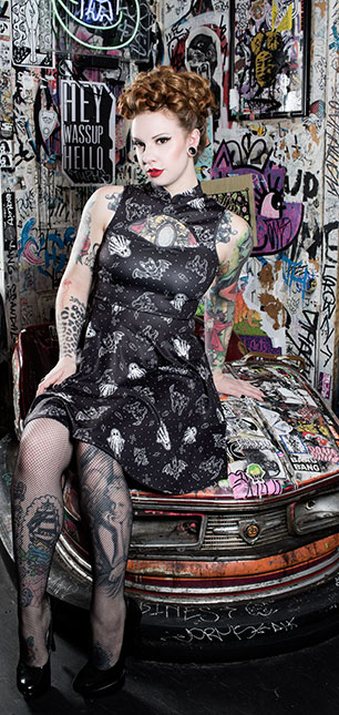 Sourpuss - So Cute it's spooky Cadet Dress