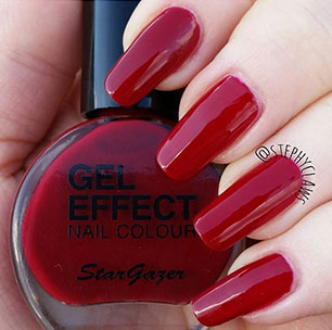 Deep Red Gel Effect nail colour bottle