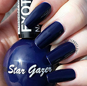 Star Gazer blue nail varnish bottle
