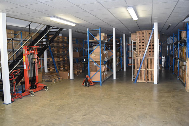 Warehouse showing stock