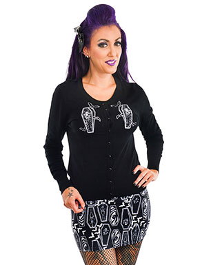 Coffin Motif Top and Skirt