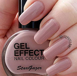 Natural skin gel effect nail colour