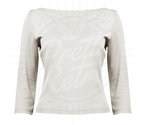 Bardot Top in Ivory