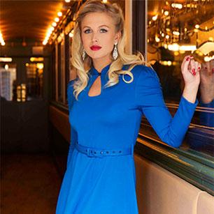 Voodoo Vixen Cobalt Blue Dress
