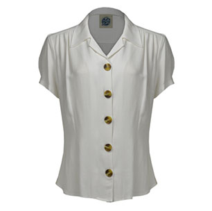 1940's Style Blouse in Ivory
