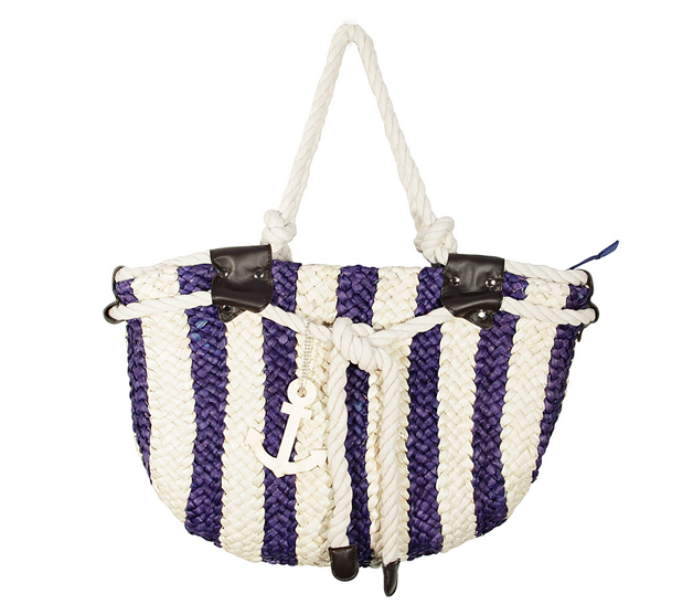 Nautical Raffia Bag