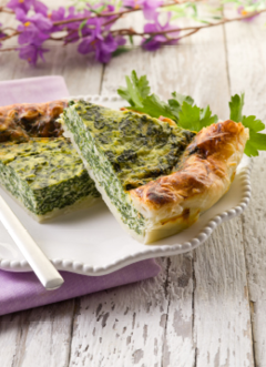 Ricotta & Spinach Quiche