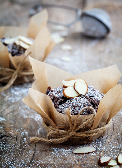 Chocolate & Almonds Muffins
