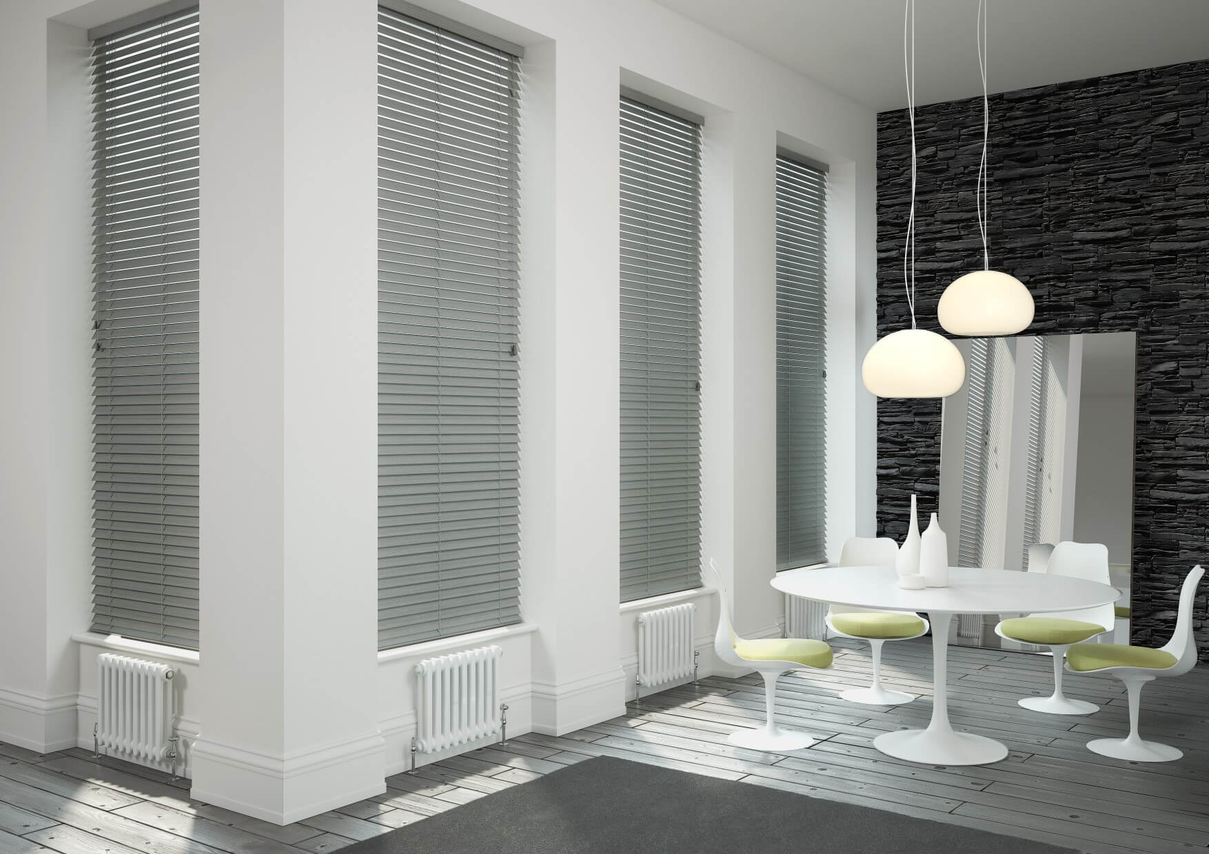 blinds wood white faux ii cordless phase gray