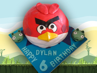Angry Birds Birthday Cake - MAD Cakes Exeter