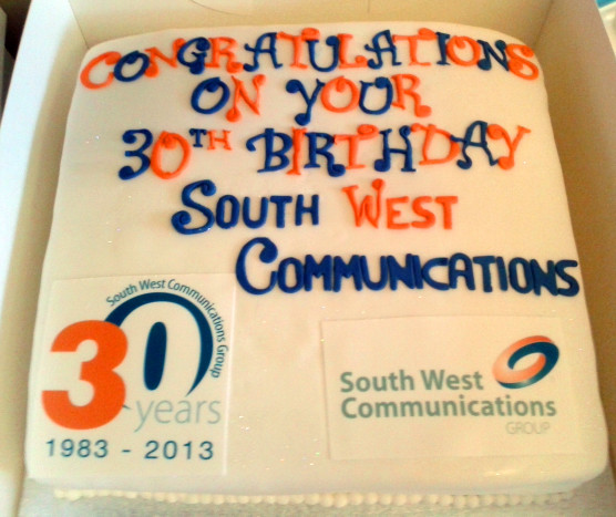South West Communications - Corporate Cakes - MAD Cakes Exeter