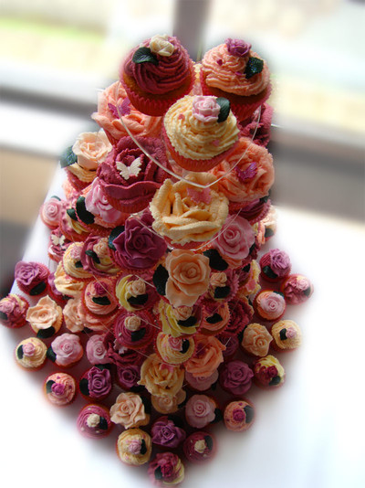 Cupcake Tower Wedding Cake - MAD Cakes Exeter
