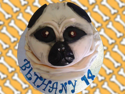 Pug Cake - Happy Birthday- Mad Cakes Exeter