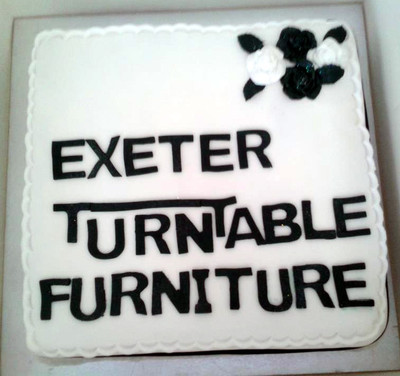 Exeter Turntable Furniture - Corporate Cakes - MAD Cakes Exeter