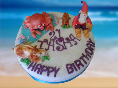 Beach Cake - MAD Cakes Exeter