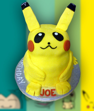 Happy Birthday Pikachu Cake - MAD Cakes Exeter