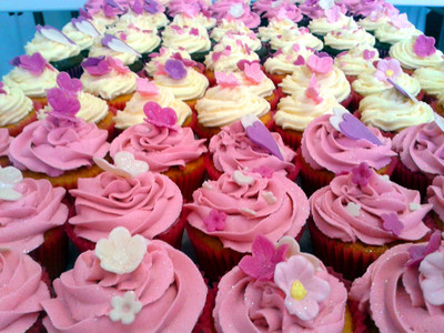 Flower and Butterfly cupcakes - MAD Cakes Exeter
