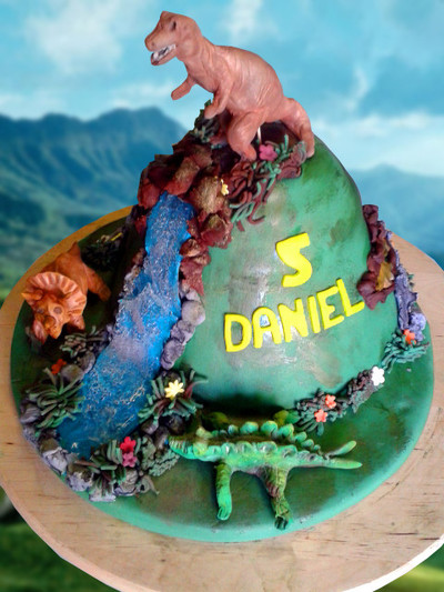 dinosaur Birthday Cake - MAD Cakes Exeter