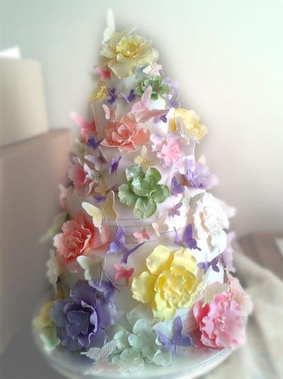 Fantasy Flower Wedding Cake - MAD Cakes Exeter