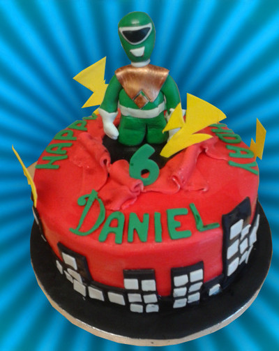 Power Rangers cake - MAD Cakes Exeter