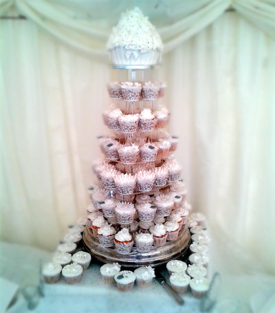 White Cupcake Tower - Wedding Cake - MAD Cakes Exeter