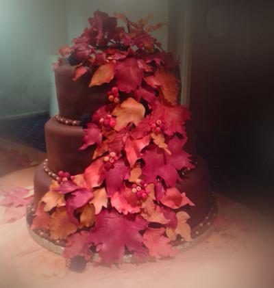Chocolate Autumn Wedding Cake