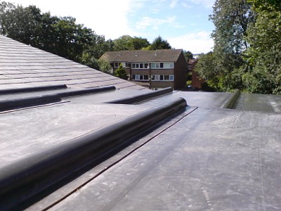 Nice lead flat roof in Bexley.