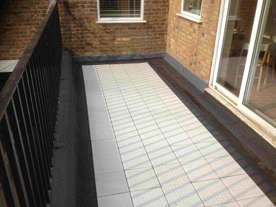 Flat roof balcony in Bromley.