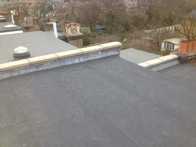 Nice flat roof in bexley. With thre layer high performance felt system.