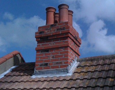 Chimney re-build in Sidcup.