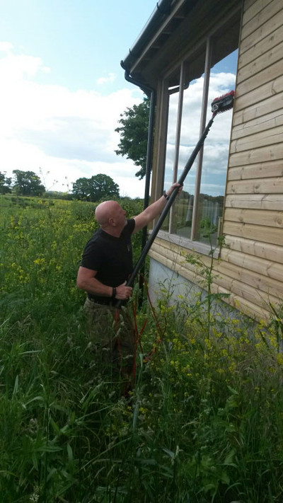 Combat Cleaning - Window Cleaning bird hide for the RSPB