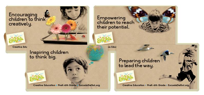 Escuela del Sol Montessori School Print Ad Campaign, Albuquerque NM