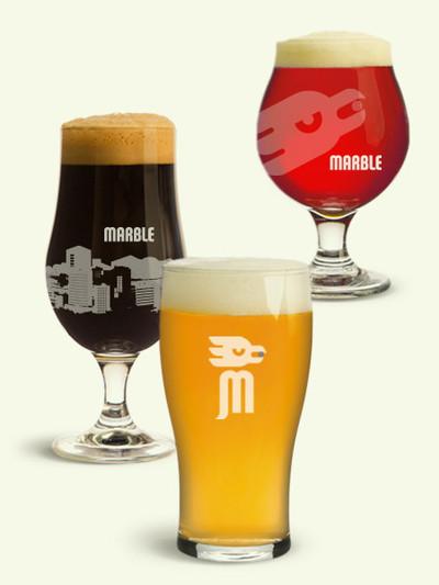 Marble Brewery beautiful beers in glasses