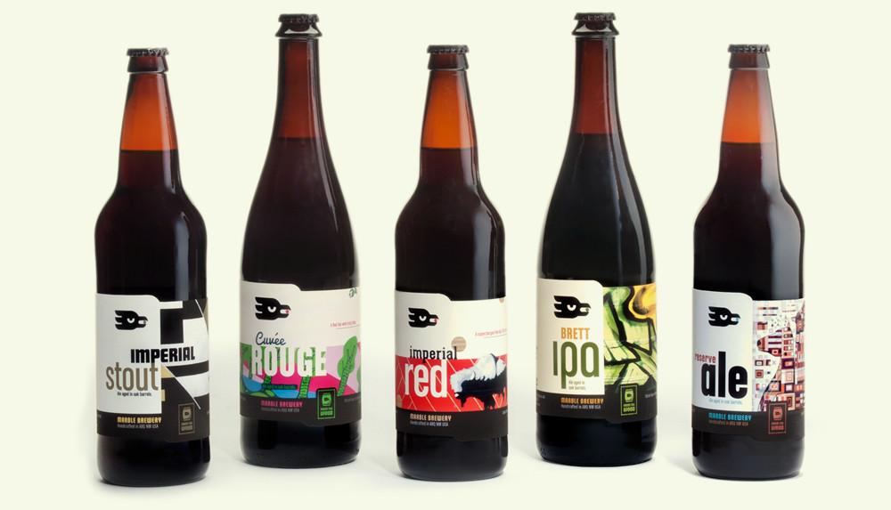 Marble Brewery Special Beer Label Designs