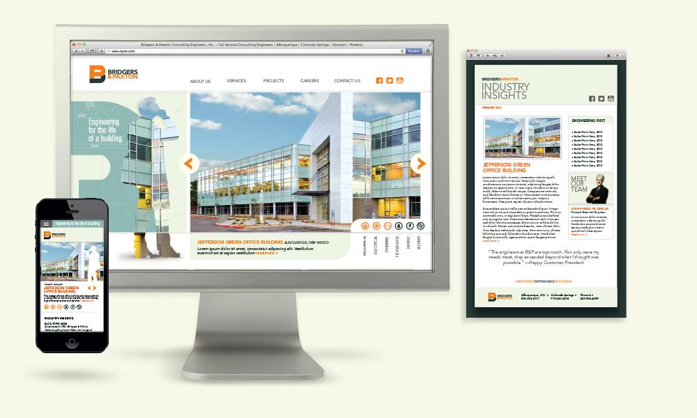 Bridgers & Paxton MEP Engineers Digital design