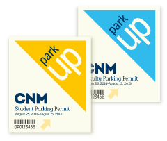 CNM 50th Parking Permit design and layout