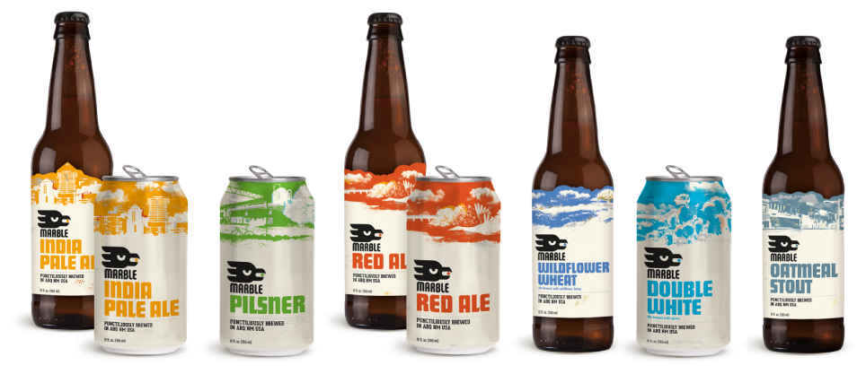 Marble Brewery year round classic beers