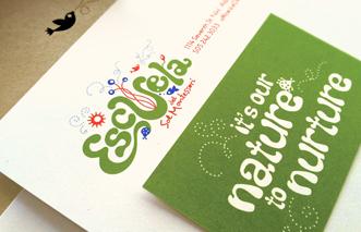 Escuela del Sol Montessori school Stationery design